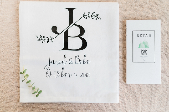 Vancouver Wedding Photographer - Custom tea towel Beta5 Chocolates